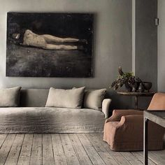 Studio Oliver Gustav, monochromatic, muted tones, soft Jill's study Sofa?