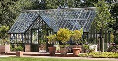 Porch Greenhouse, Aquaponics Greenhouse, Modern Barn House, Modern Farmhouse Exterior, Unique Gardens, Garden Structures, Glass House, Garden Crafts, Next At Home