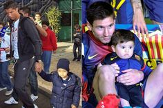 Runinng in the Family? - Cristiano Ronaldo and Lionel Messi still have a couple years before they need to worry about sending their sons to a soccer academy, but both kids are almost certainly destined to follow in their dads' footsteps. Bizarre: the two stars' children were born 869 days apart, the exact number of days that separated Ronaldo's and Messi's own births! Weird!