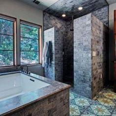 doorless shower by AislingH