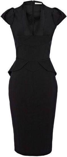 a15bc1ae4509 Karen Millen, Lbd, Formal Wear, Casual Dresses, Peplum Dress, Fashion Beauty