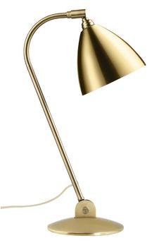 GUBI // Bestlite Table Lamp in all brass Concrete Lamp, Lamp Design, Desk Lamp, Table Lamps, Glass Pendants, Wall Sconces, Floor Lamp, Pendant Lighting, Chrome