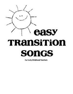 "Easy Transition Songs for ECE.    ""Every early childhood educator needs their arsenal of songs to help with transitions. In this file are 12 original songs, using ""piggyback"" tunes for several transitions including, but not limited to, Welcome, Lining up, Mealtime and Story time. Each song is framed with a 3"" x 5"" line to easily cut and glue to an index card, for simple storage."""
