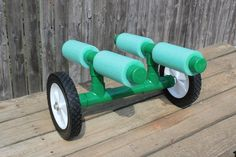 DIY Portage cart for canoes