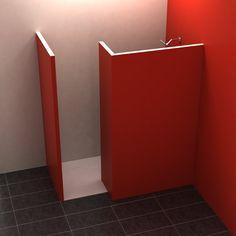 Badezimmer Zur Aufnahme der 5 cm starken Wandelemente aus Wedi®-Bauplatten ist eine Nute in das Bodenelement eingefräst. Die Dusche ist perfekt geeignet für die Aufnahme von Fliesen, Putz oder PVC. Hochwertiges ebenerdiges Bodenelement aus...