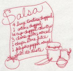 Salsa (Redwork)