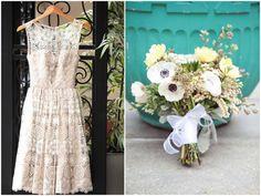 Mad Men Wedding Theme Dress & Bouquet