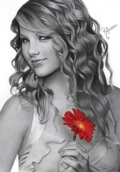 taylor swift  fearless by rajacenna - Pencil Portraits Drawings by Rajacenna