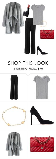 """""""grey and black"""" by jkajsa on Polyvore featuring Whistles, Acne Studios, Cartier, Gianvito Rossi, Chicwish, Chanel and NARS Cosmetics"""