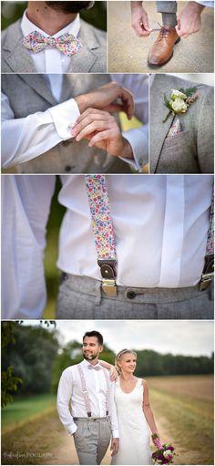 33267a0748597 Bow tie and floral strass for the groom - Noeud papillon et bretelles à  motifs pour