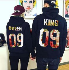 Couple Sweaters set King 09 and Queen 09 set of by FUNNYARTiSHOCK