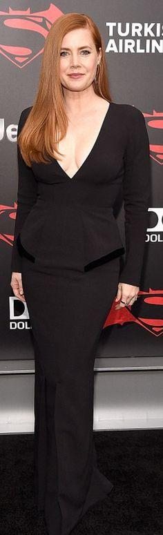 Amy Adams in Dress – Tom Ford  Earrings – Paka Paka  Ring – IPPOLITA