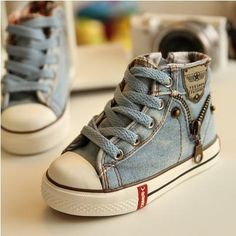 2017 Canvas Children Shoes Sport Breathable Boys Sneakers Brand Kids Shoes for Girls Jeans Denim Casual Child Flat Boots Denim Sneakers, Kids Sneakers, Canvas Sneakers, Denim Shoes, Girls Jeans, Girls Shoes, Baby Shoes, Cropped Jeans, Tenis Star