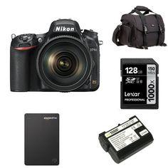 Nikon D750 FX-Format DSLR Camera with 24-120mm Lens Deluxe Bundle