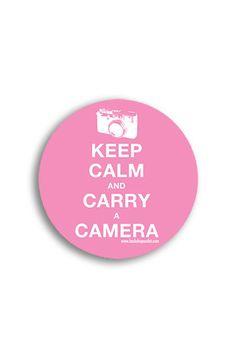 STICKER023 Keep Calm And Carry A Camera Photography Sticker