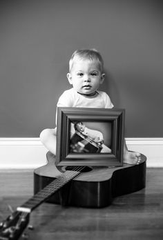 One Year / First Birthday Photo (holding newborn pic)  https://www.facebook.com/mamasnaps