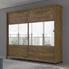 #Guardaroupa que ajuda na #organização do #quarto e lindo para a decoração? Este daqui é ótimo e tem até #espelho. <3  #decoração #design #madeiramadeira