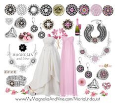 """""""Pretty in Pink Wedding Days are Here with Magnolia & Vine"""" by maria-magnolia-and-vine on Polyvore featuring Lauren Lorraine, True Decadence and Gerber"""