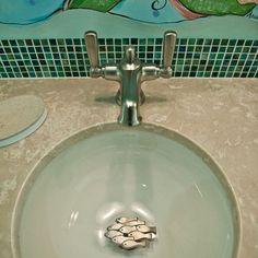 Decorative drain covers for bathroom.