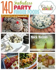 140 Fabuless Party Finger Foods | FabuLESSly Frugal. Cookies & Cream Popcorn, Cheeseballs, Dips & More! #partyfood #appetizer #recipes