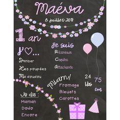 Affiches d'anniversaires de bébé Creations, Boutique, Birthday Posters, Birthdays, Bebe, Boutiques