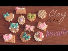 Cookie - Polymer Clay Charm - How To - SoCraftastic. In this DIY, learn how to make a clay deco biscuit, or cookie. Use them for charms, pendants, or deco den projects. Check back next Crafty Friday for a new craft-related video from Polymer Clay Miniatures, Fimo Clay, Polymer Clay Charms, Polymer Clay Projects, Polymer Clay Creations, Resin Crafts, Polymer Clay Sweets, Polymer Clay Christmas, Doll Food