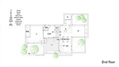House in Takaban,Second Floor Plan