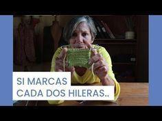 Cómo empezar a Tejer ➜ Marcar cada dos hileras ➜ Aprende a #tejer con María Lucila Cavanagh - YouTube
