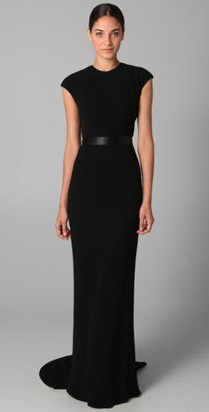 Long Black Tie Dresses