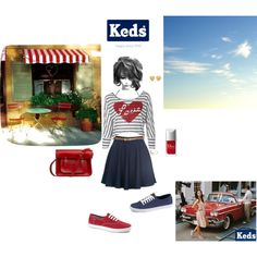 Ready. Set. Summer! with Keds, created by classicandbeautiful on Polyvore