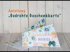 Anleitung  Gedrehte Geschenkkarte - YouTube