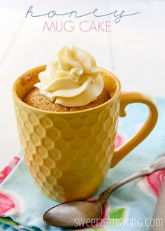 Honey Mug Cake - It might be because I omitted the sugar or overcooked it, but the cake came out too chewy...