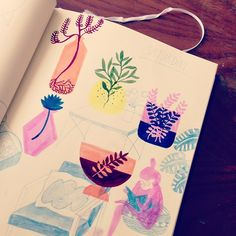 Furniture and planties <3 Sketches for my EMP
