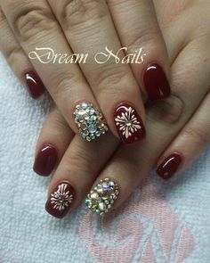 #Elegantnails#gelnails#gelnailart#swarovski#claretnails# fireworks#ilovenails#dreamnails