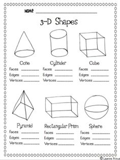 flat or solid shapes in kindergarten