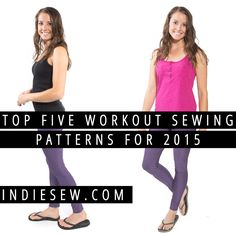 See our favorite picks for handmade workout clothes! Exercise in style with these great sewing patterns.