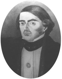 Jose Francisco Ruiz was born in Villa de San Fernando, Mexico, in 1783. He was active in Mexico's fight for independence, fleeing the United States in 1813 and returning in 1822 when Mexico became a Republic. Ruiz served in the Mexican Army, helping to quell the Fredonian Rebellion, and was an elected delegate to the Washington Convention. He died at home in 1840.