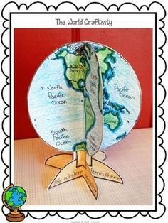 The World - A Globe Craftivity for Social Studies - Bildung Social Studies Projects, 3rd Grade Social Studies, Social Studies Classroom, Social Studies Activities, Teaching Social Studies, Teaching History, Teaching Resources, Teaching Geography Elementary, Elementary Social Studies