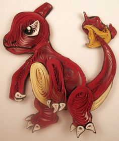 Paper Quilling Art Kit Pokemon Charmander / Composing a tutorial paper remains a challenging, hoping, and int Quilling Cake, Neli Quilling, Paper Quilling Designs, Quilling Ideas, Pokemon For Sale, Pokemon Charmander, Quilling Animals, Weekend Crafts, Arts And Crafts