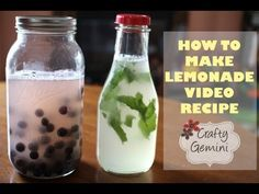 How to Make Lemonade- Plain, Blueberry & Mint Recipes - from Vanessa @ The Crafty Gemini