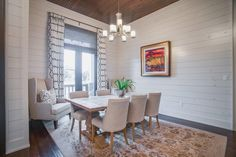 Gorgeous shiplap walls in one of my Lubbock Texas listings. This Parade Home has amazing wood details throughout. For more photos of this home follow the link to my website at AmyTappRealty.com  #shiplap #diningroom #LubbockTXhomesforsale