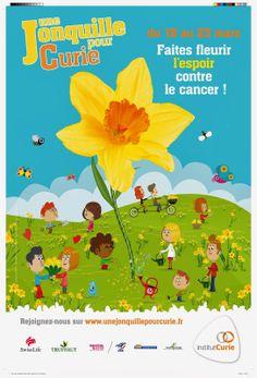 Une Jonquille pour Curie 2014 - du 18 au 23 mars 2014 faites fleurir l'espoir contre le cancer avec l'Institut Curie ! Fête ses 10 ans
