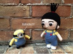 "CROCHET • Minions | ""Here is your chance to make your own minion army! This pattern only require simple crochet techniques and skills, a really quick project for all minion lovers. Lil' Minion is approximately 10cm tall, a perfect size to make into a keychain or a cute decoration at home."" ~ Rachel H., Little Yarn Friends (free pattern)"