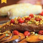 Roasted Pork Tenderloin over Sweet Potatoes #SundaySupper
