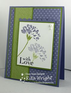 Retired Love and Care set, using retired Lucky Limeade (sure do miss this colour), and Wisteria Wonder - thanks Rita