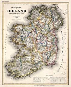 Old map  of Ireland  Antique maps  Historic map by AncientShades, $30.00