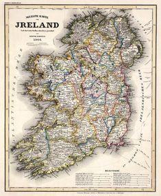 Alte Karte von Irland Archivierung Reproduktion von AncientShades