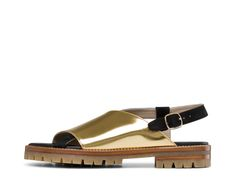 Gold wraparound sandals