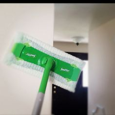 Use a Swiffer Sweeper with dry sheets to clean your walls and ceilings... You will be amazed to see how much dust collects on the walls!