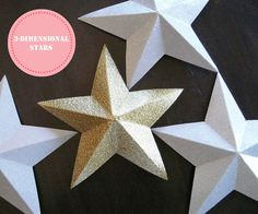 [Make] 3-Dimensional Paper Stars via bliss bloom blog! You could hang those and make beautiful Christmas ornaments from them!